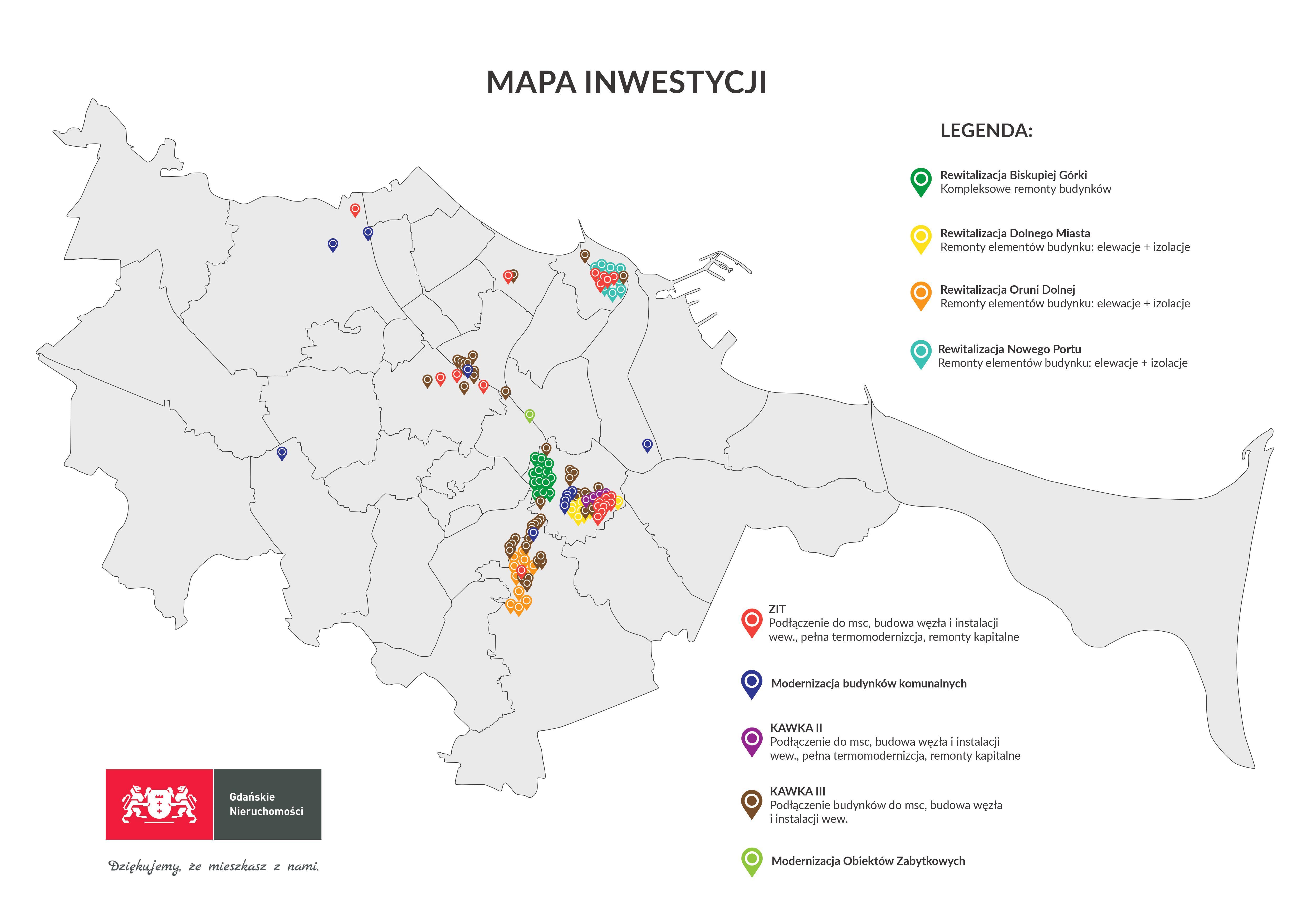 mapa inwestycji